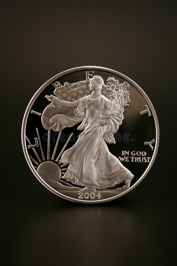 Silver Dollar royalty free stock image