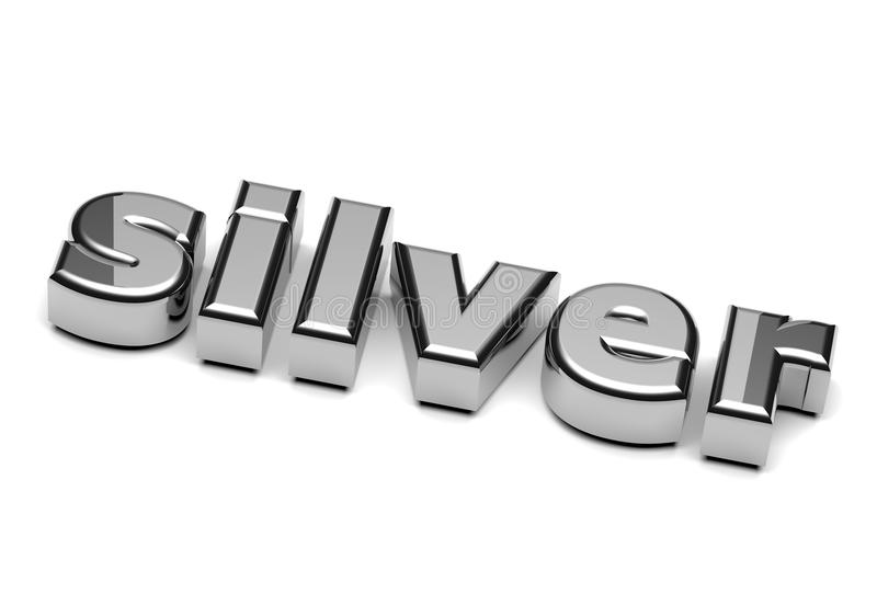 Silver English Word Royalty Free Stock Images
