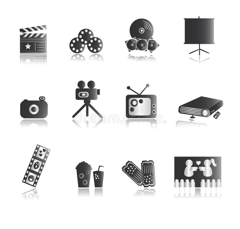 Free Silver Entertainment Icons Royalty Free Stock Photography - 5461207