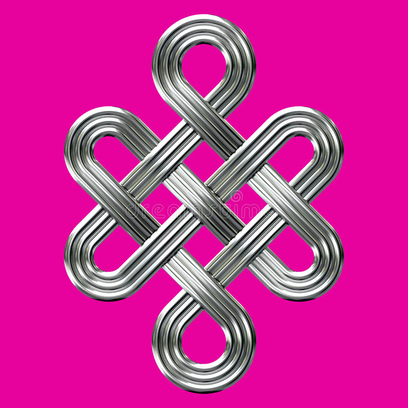 Silver Eternal Knot Charm Symbol Stock Image Image Of Ancient