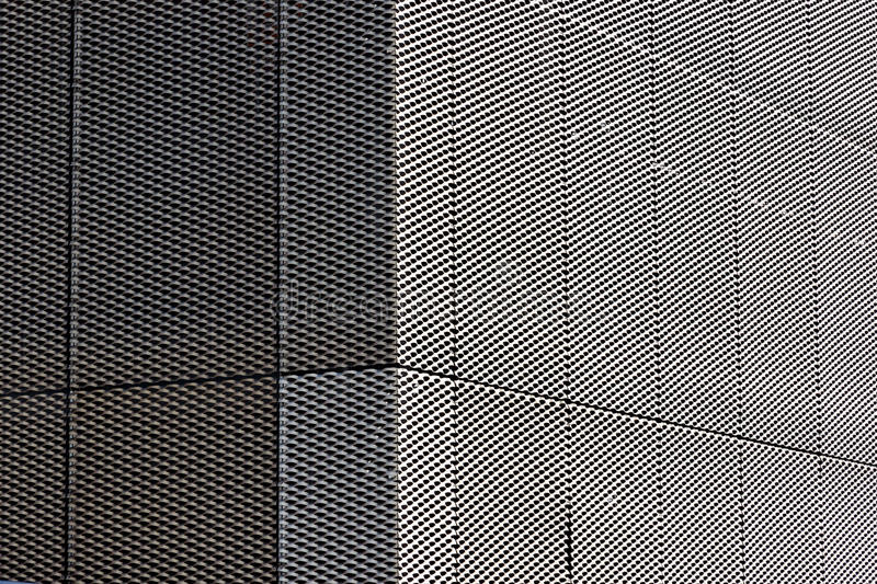 Silver Exterior of Mesh Grille Texture royalty free stock image