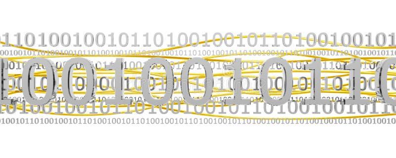silver för binär kod vektor illustrationer