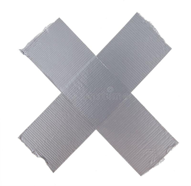 Silver för kanalreparationsband arkivfoto