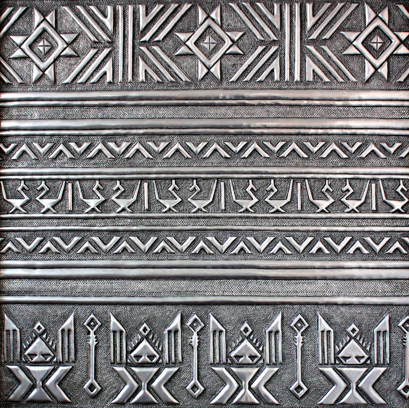 silver för metallplatta arkivfoto
