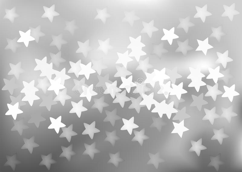 Silver festive lights in star shape, vector royalty free illustration
