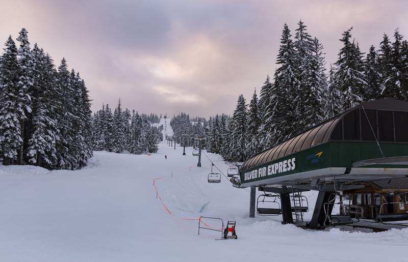 Silver Fir Express in Snoqualmie Summit. royalty free stock photography