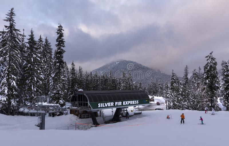 Silver Fir Express in Snoqualmie Summit. royalty free stock photos