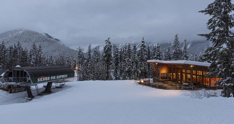 The Silver Fir Lodge royalty free stock photo