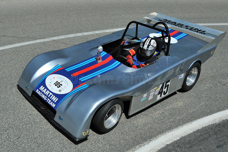 Silver Flag 2012 - Chevron B8 Racing 1978. Vernasca Silver Flag June 2012 - Historic hill-climb for competition cars - Castell'Arquato, Italy royalty free stock photo