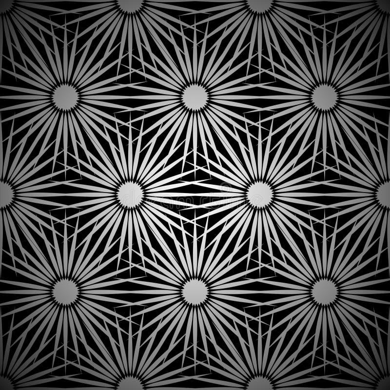 Download Silver Floral Explosion Background Stock Vector - Illustration: 14852609