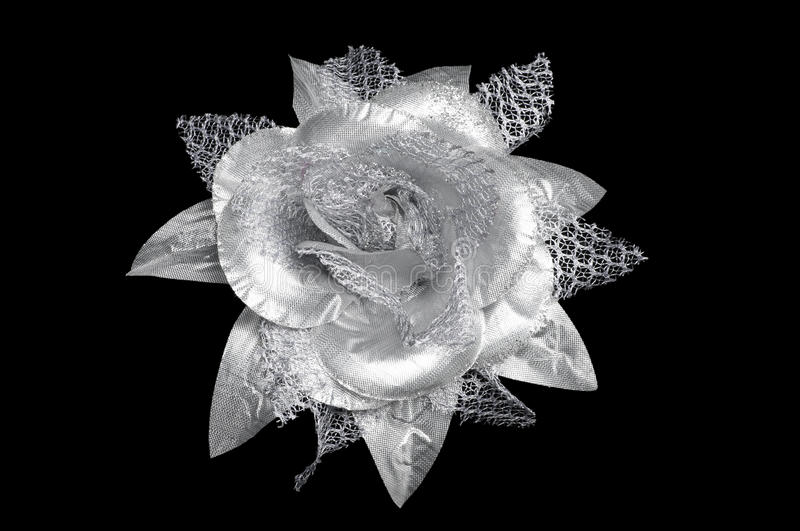 Download A Silver Flower Hair Clip For Women Stock Photo - Image: 21529842