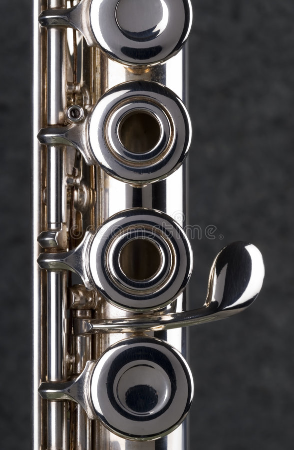 Download Silver Flute. stock photo. Image of band, instrument, metal - 1874318