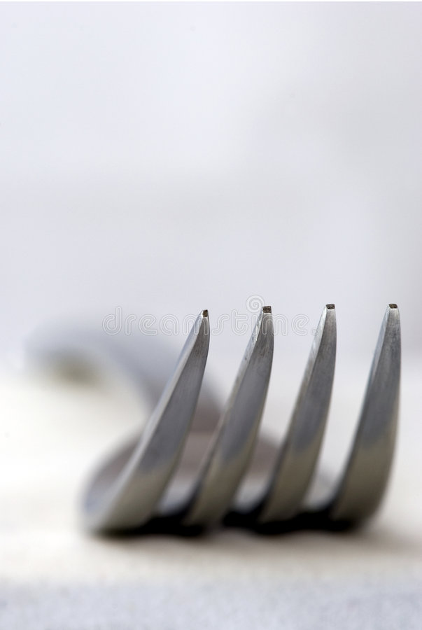 Silver fork royalty free stock photo