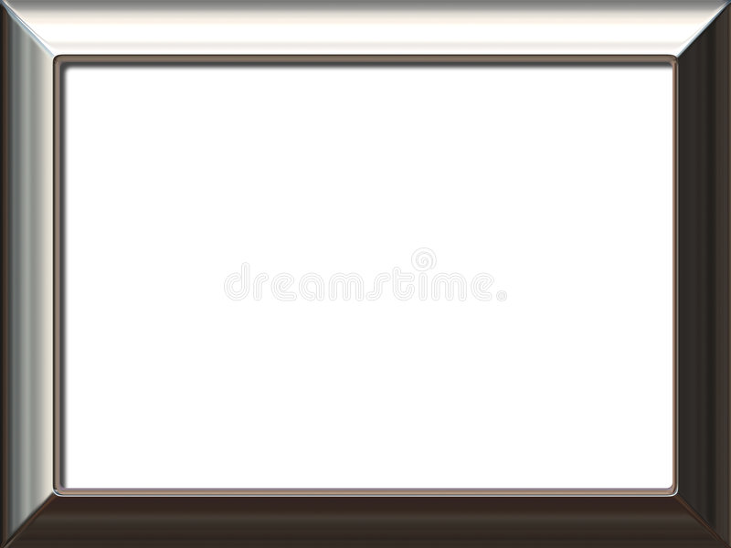 Download Silver frame stock illustration. Image of artwork, metallic - 7222926