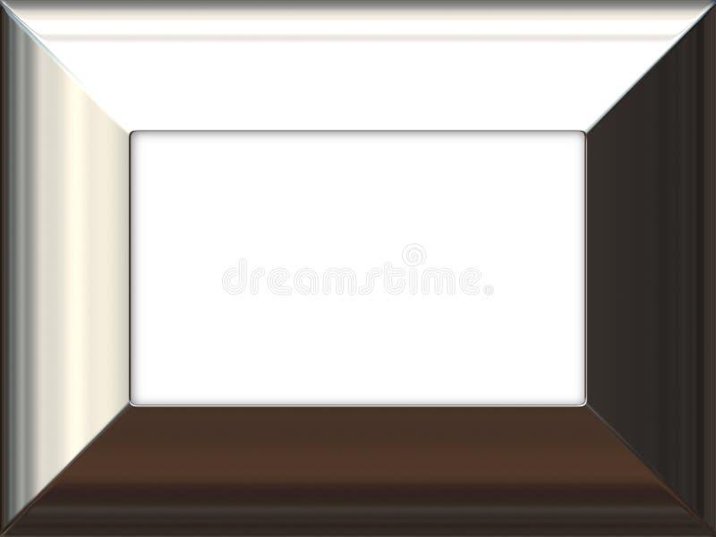 Silver frame royalty free illustration
