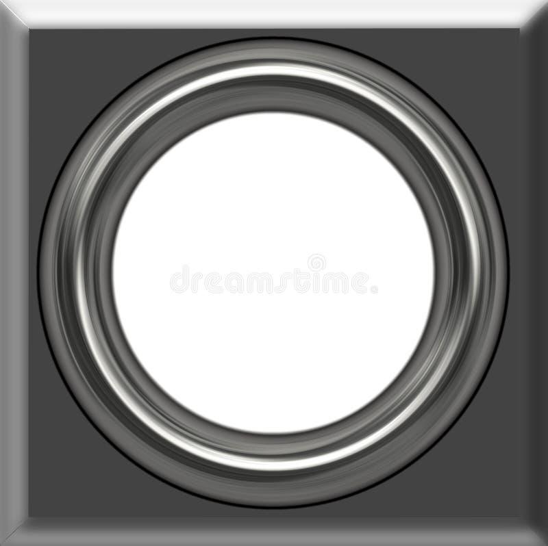 Silver frame vector illustration