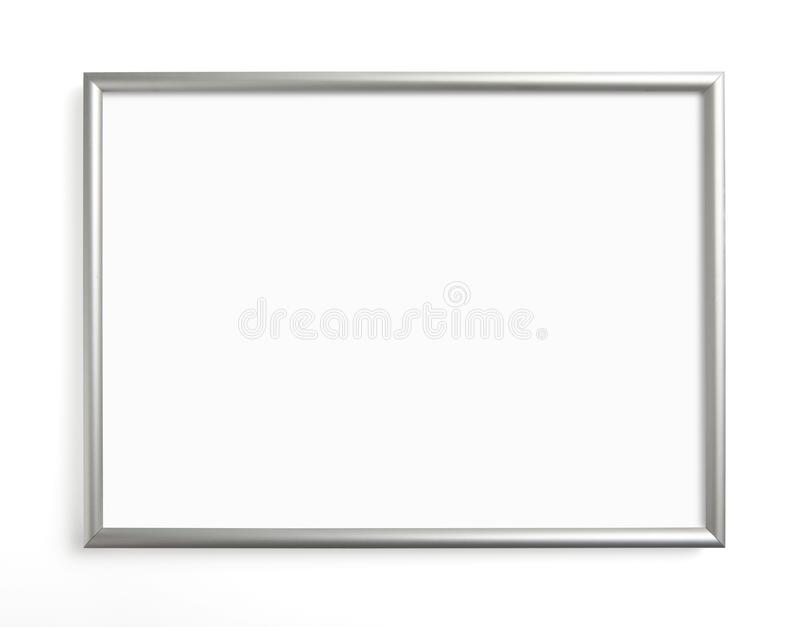 Silver frame for painting or picture on white background. royalty free stock photos