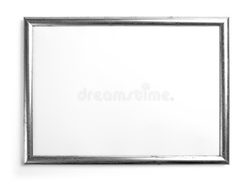 Silver Frame For Painting Or Picture On White Background. Stock ...