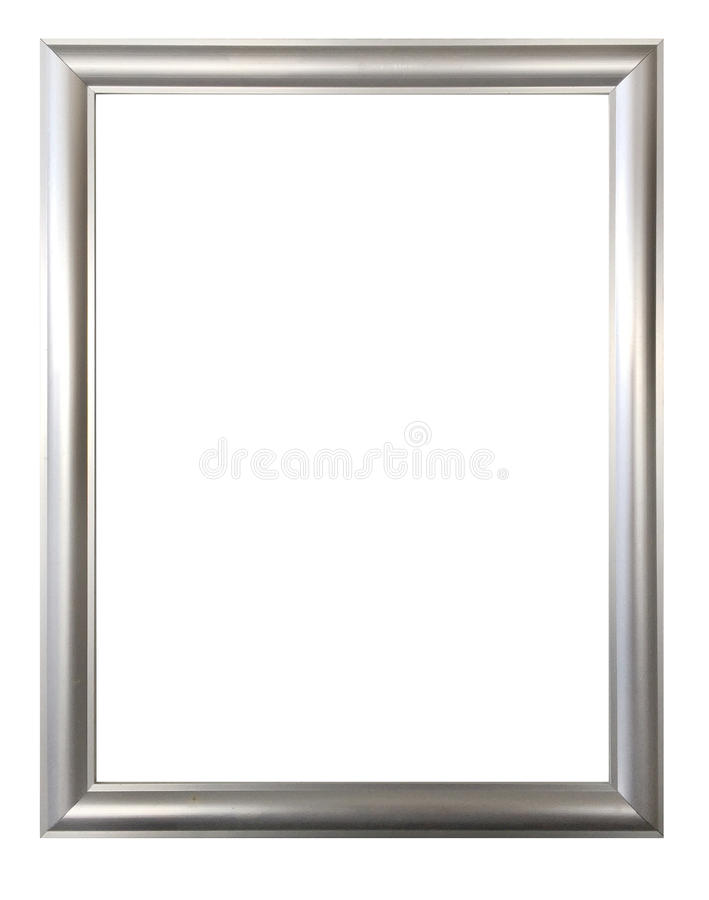 Silver Frame For Paintings, Mirrors Or Photos Stock Image - Image of ...