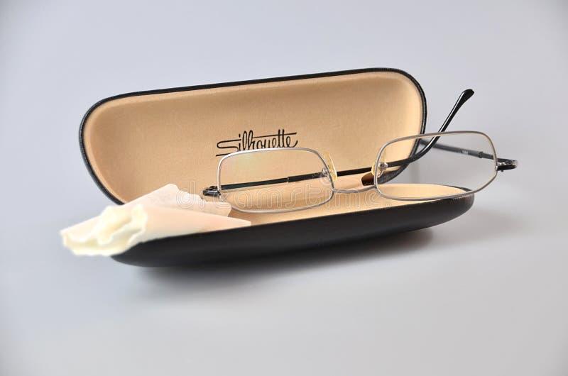 Silver Framed Eyeglasses On Black Eyewear Case Free Public Domain Cc0 Image
