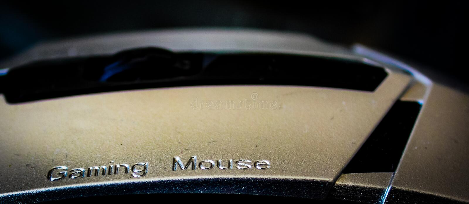 Silver Gaming Mouse for Professional royalty free stock photo