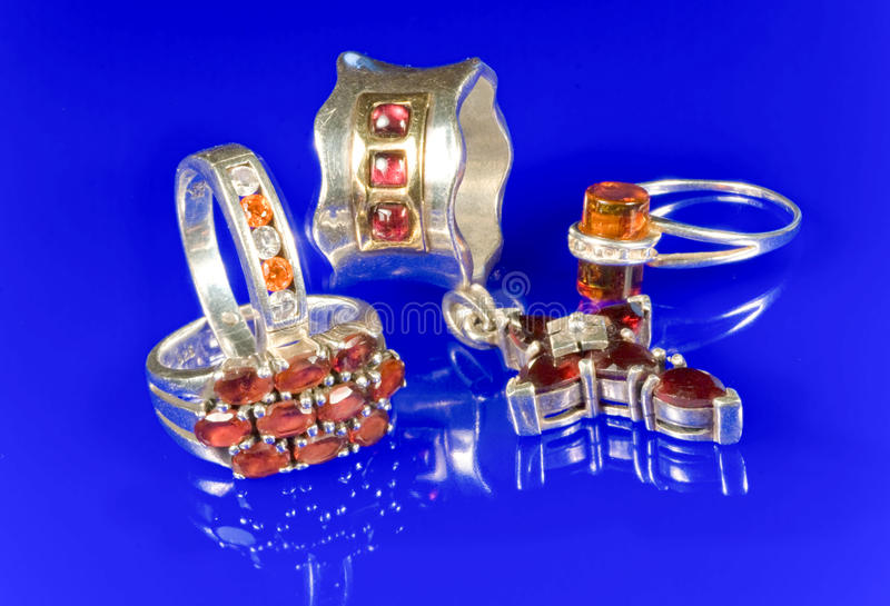 Download Silver And Garnet Stock Image - Image: 10660481