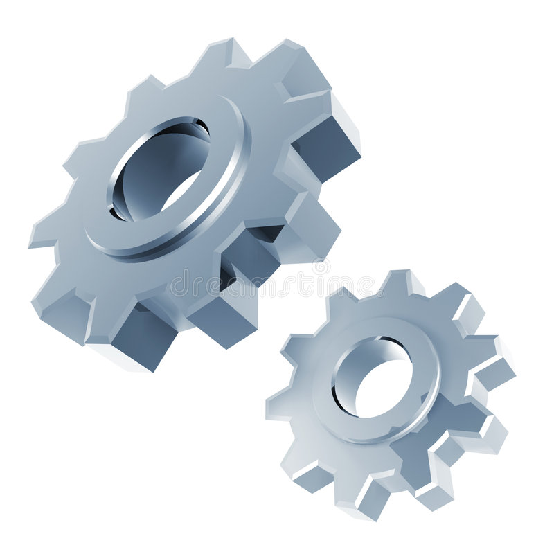 Download Silver gear stock illustration. Image of circle, machine - 8836244