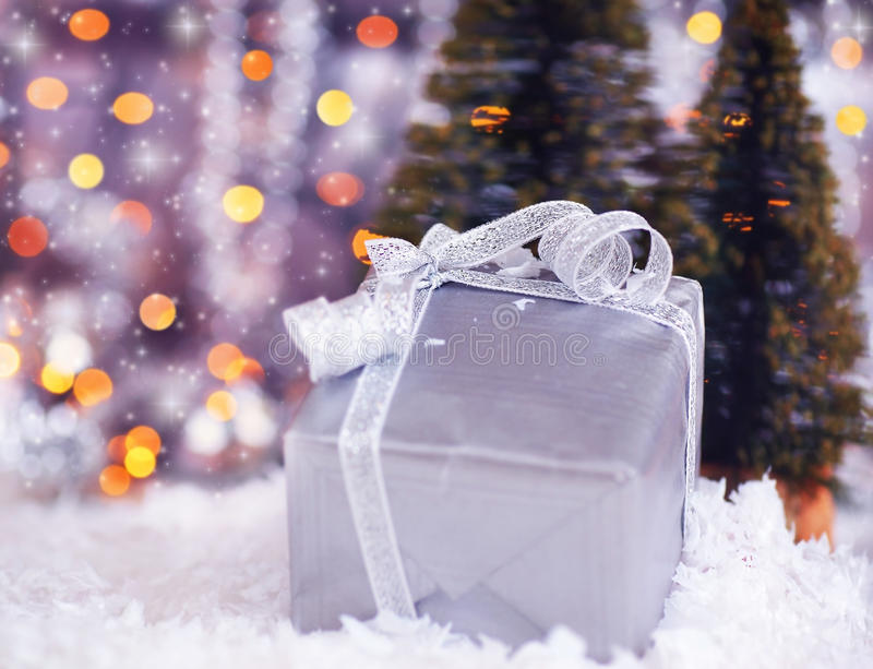 Download Silver Gift Box Stock Photography - Image: 17015592
