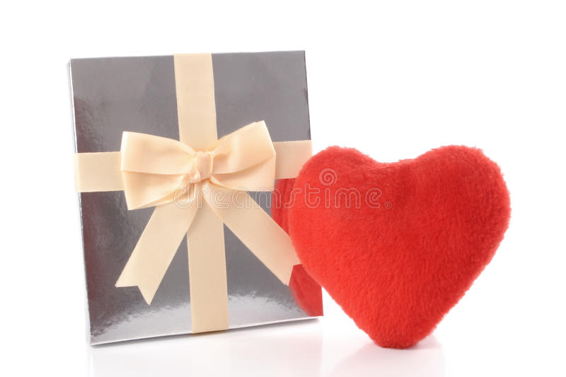 Download Silver gift and Heart stock image. Image of background - 38602813