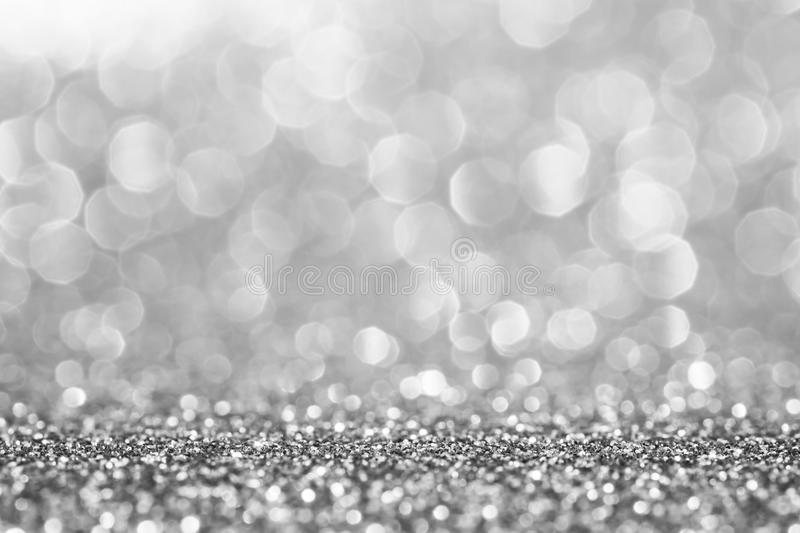 Silver glitter for abstract background stock images
