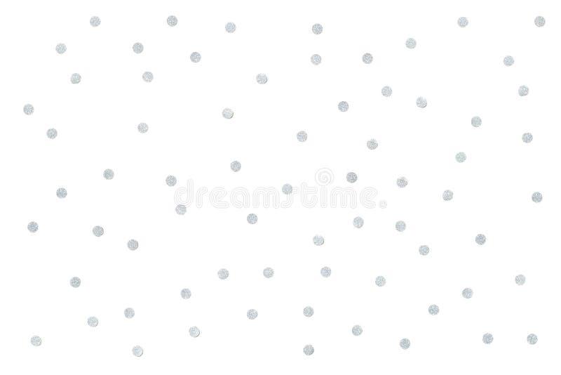 Silver glitter confetti paper cut background. Close up stock photos