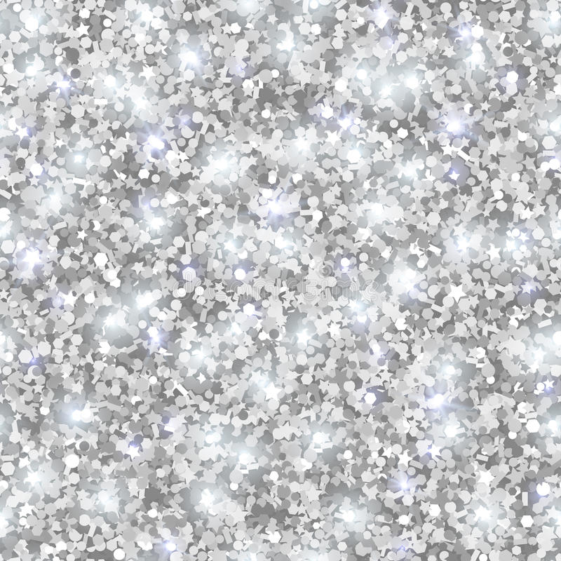 Silver Glitter Texture, Seamless Sequins Pattern Stock ...