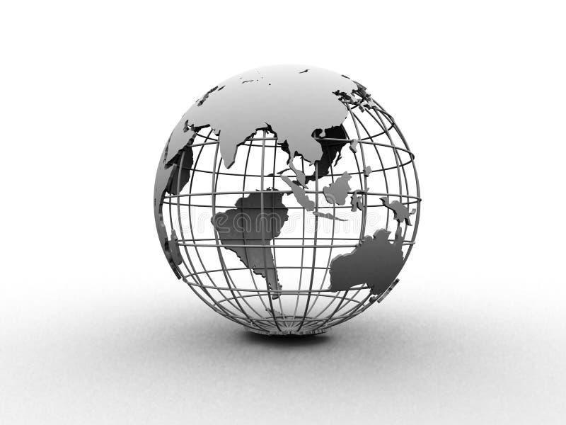 Silver globe royalty free illustration