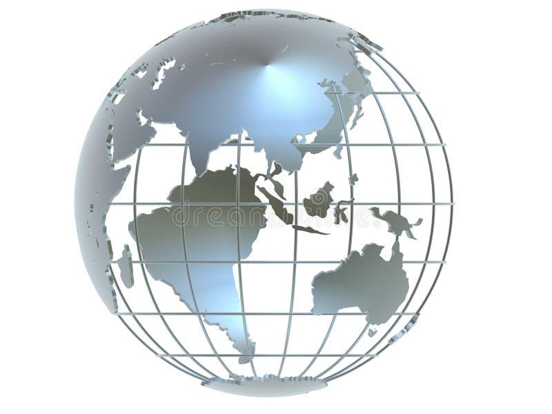 Silver globe stock illustration