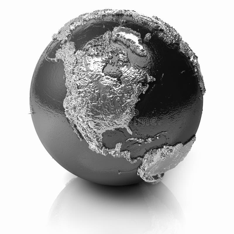 Download Silver Globe - North America Stock Illustration - Image: 21610740