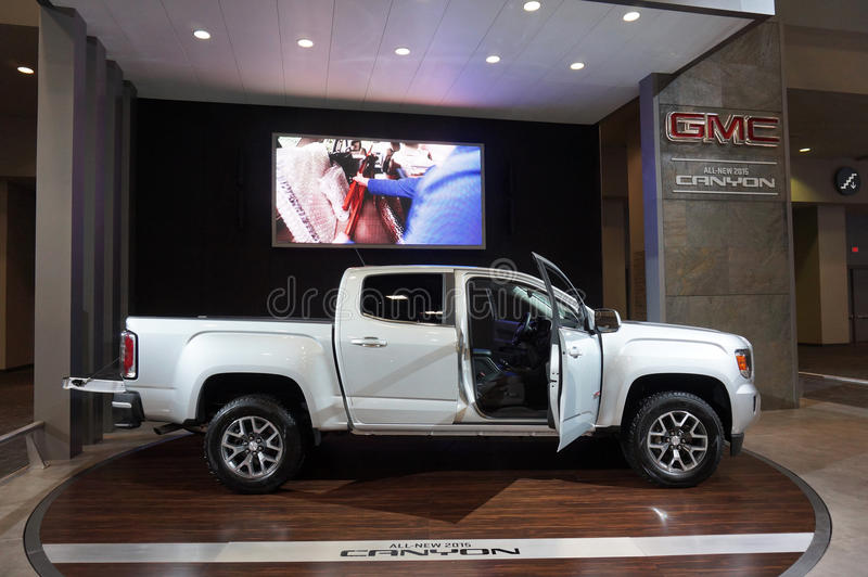 Silver GMC Canyon Truck royalty free stock photos