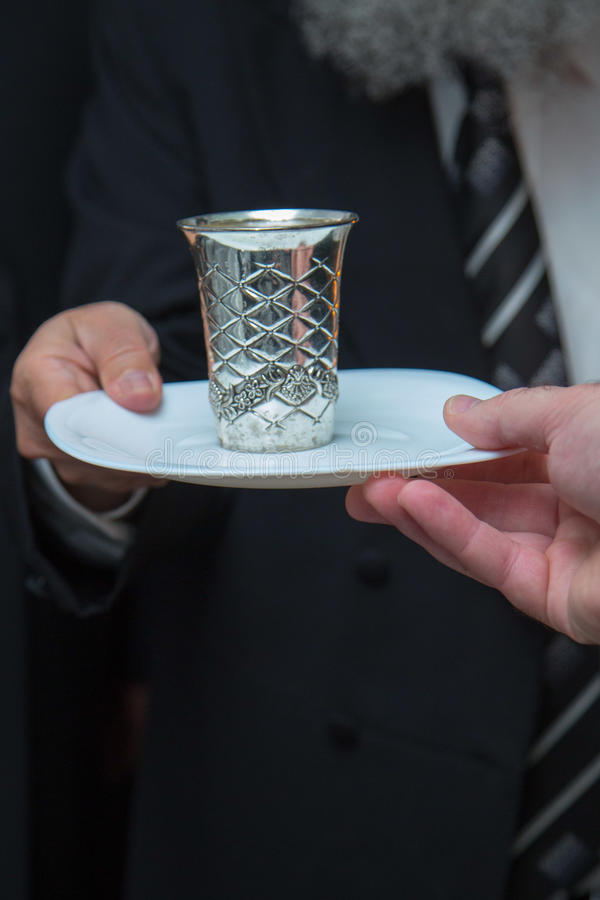 Silver goblet royalty free stock photo