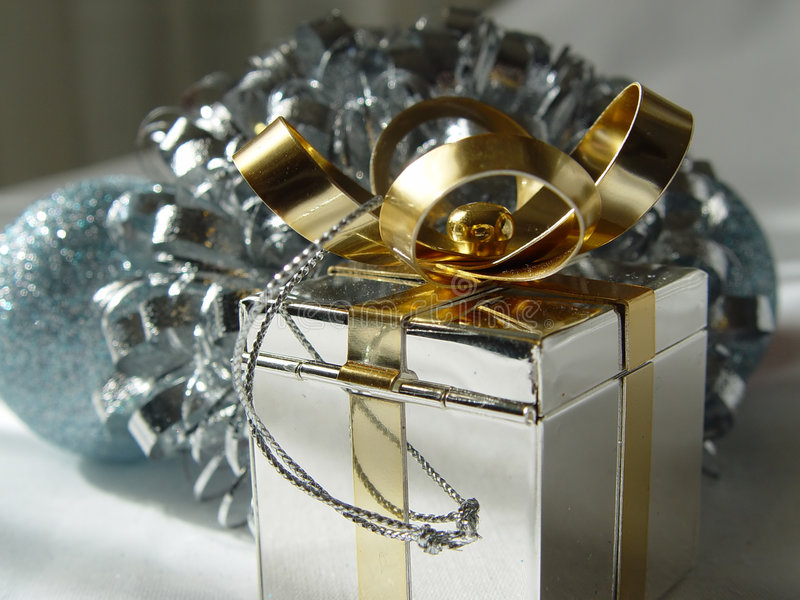 Download Silver and Gold stock photo. Image of holiday, present - 1468568