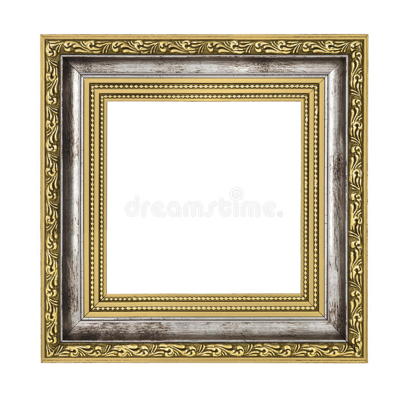 Silver and gold frame royalty free stock photo