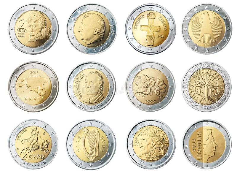 Silver and Gold Round Coin royalty free stock photos