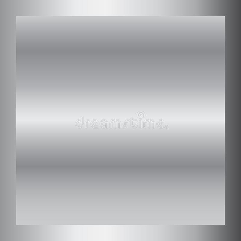 Silver gradient background. Silver design texture for ribbon, frame, banner. Abstract silver gradient template. Metal vector illustration