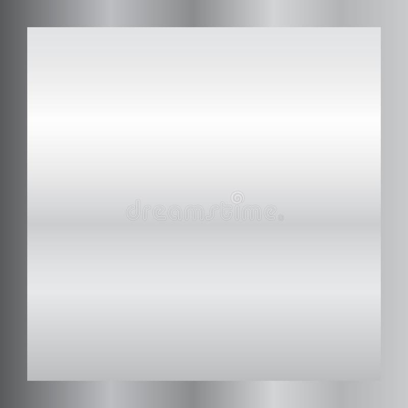 Silver gradient background. Silver design texture for ribbon, frame, banner. Abstract silver gradient template. Metal royalty free illustration