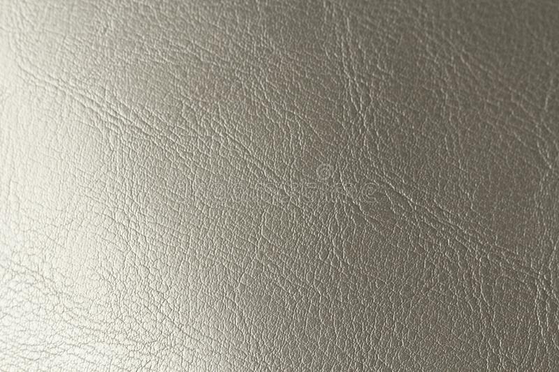 Silver Gradient Background. Silvery Brilliant Background. Gray Background of Genuine Leather.  stock photography