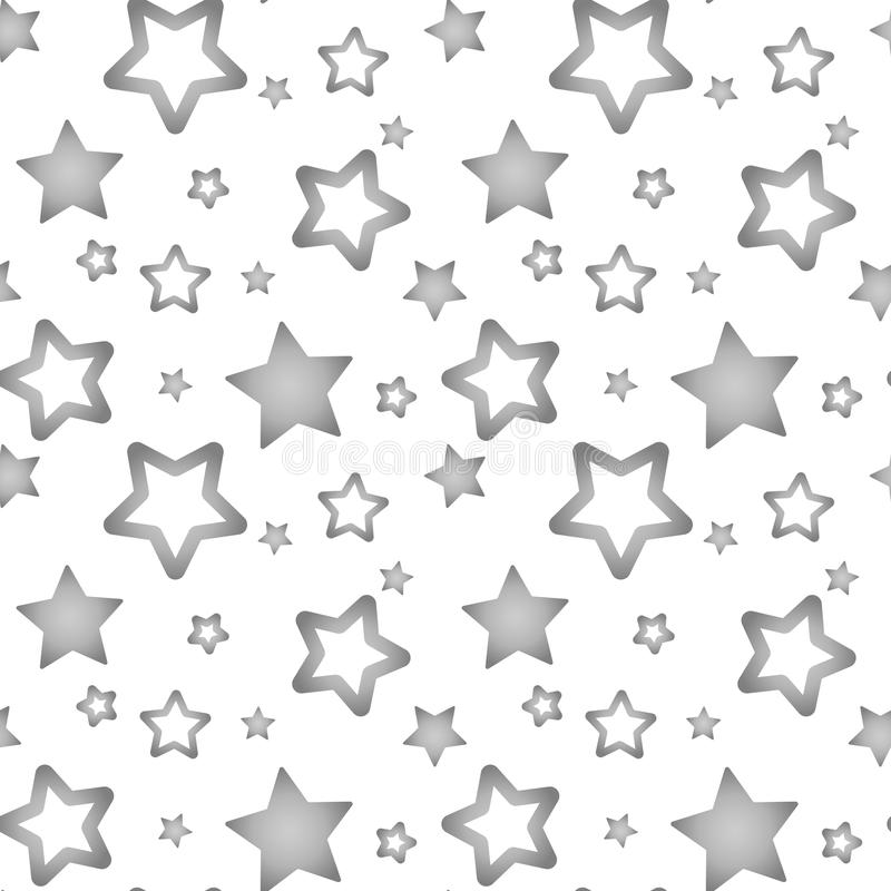 Silver gray stars on a white background pattern seamless vector vector illustration