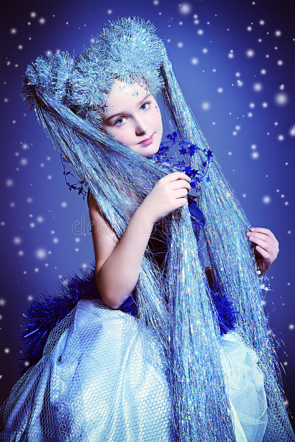 Silver hair royalty free stock photography