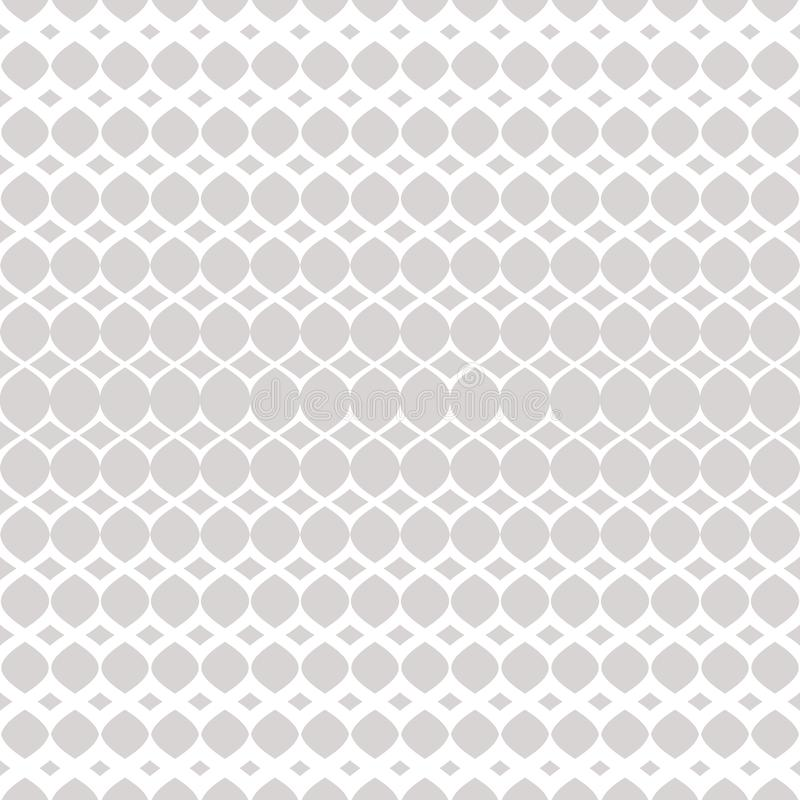 Free Silver Halftone Seamless Pattern. White And Gray Vector Texture Of Mesh, Weave Stock Images - 151694674