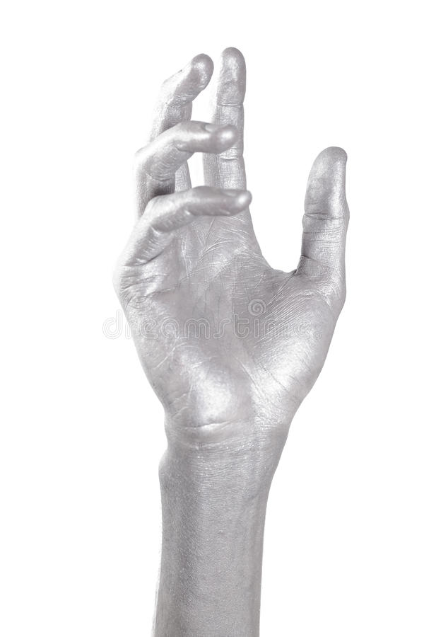 Silver Hand In Graceful Gesture Stock Image