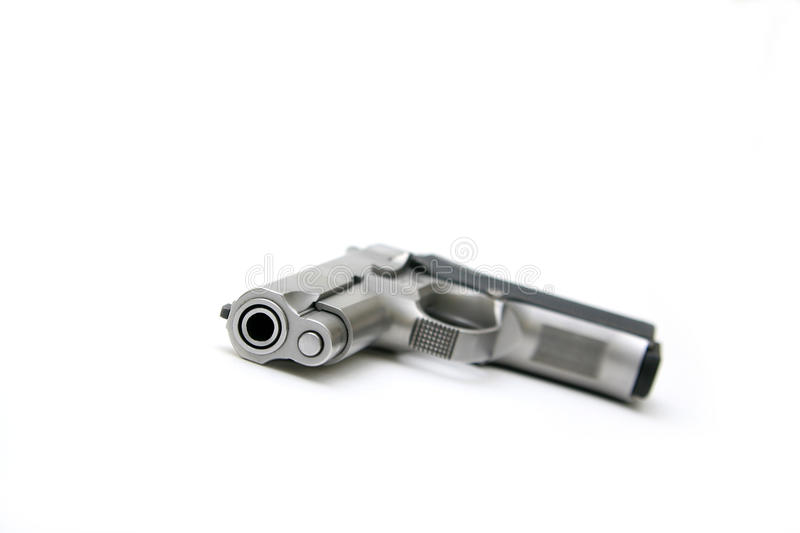 Download Silver Handgun stock photo. Image of silver, automatic - 23814398