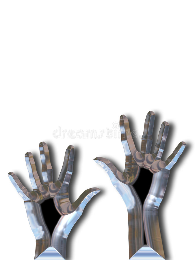 Silver hands vector illustration
