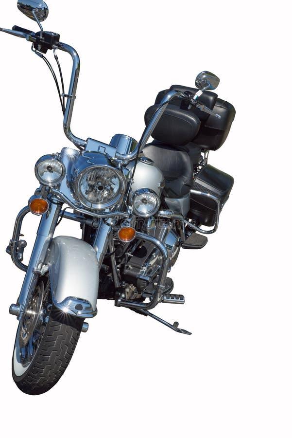 Silver Harley Davidson royaltyfri bild